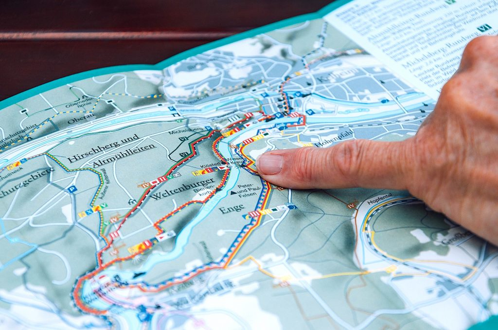 Reading a Map Point - Orienteering - Living Healthy Wealthy Wise
